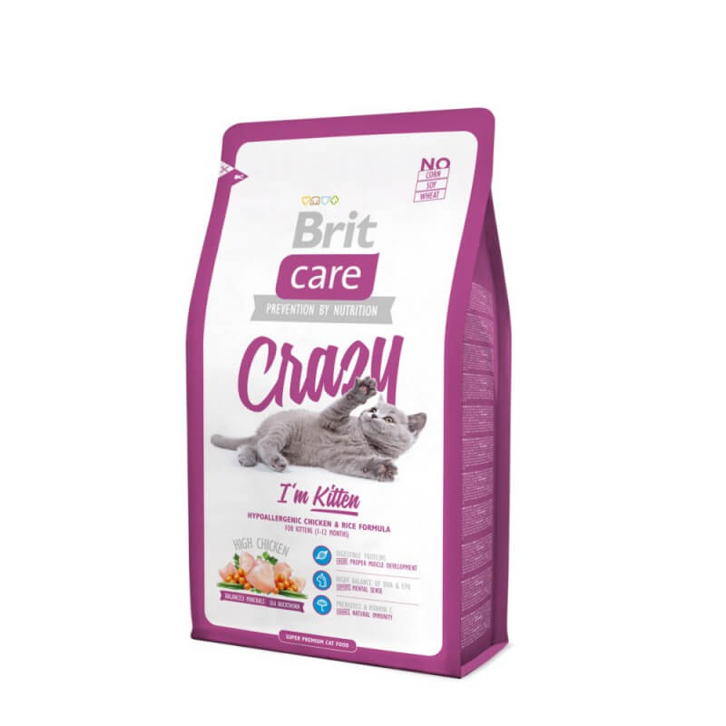 Brit Care Crazy I'm Kitten sausas maistas kačiukams
