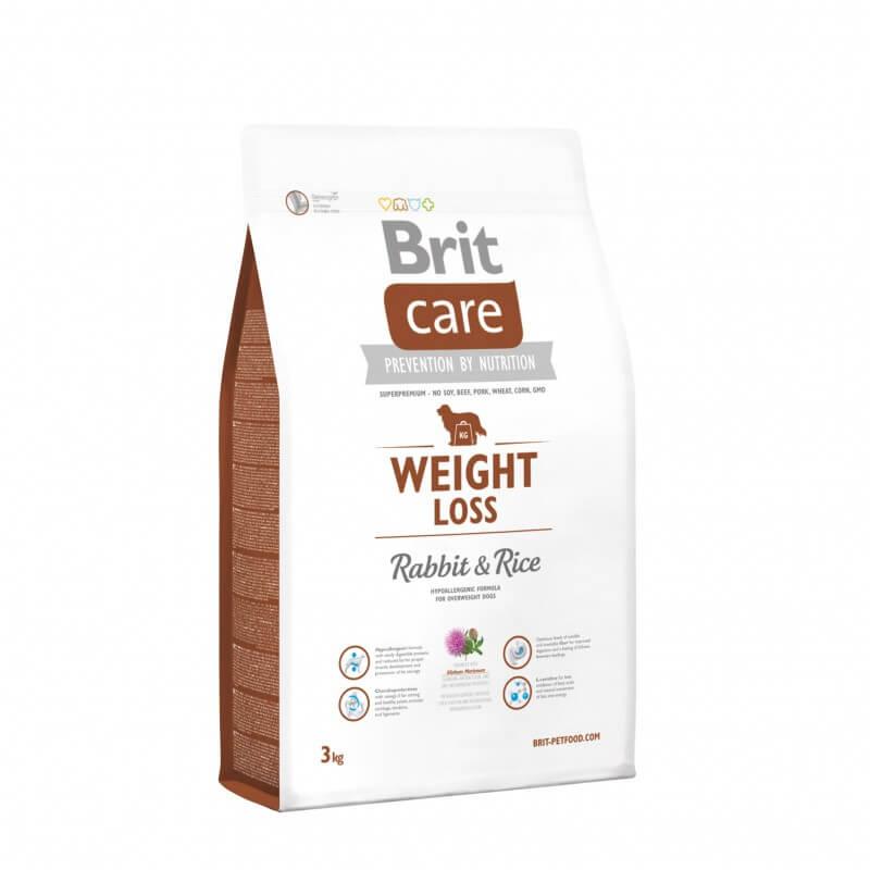 Brit Care Weight Loss Rabbit and Rice sausas maistas šunims