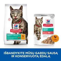 Hill's Science Plan Feline Adult Perfect Weight Chicken sausas