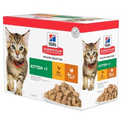 Hill's Feline Kitten Multipack Pouch Chicken & Turkey guliašas