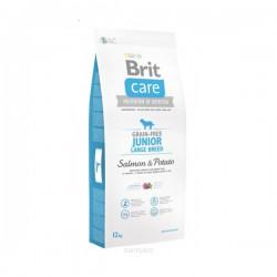 Brit Care Grain-free Junior Large Breed Salmon & Potato sausas