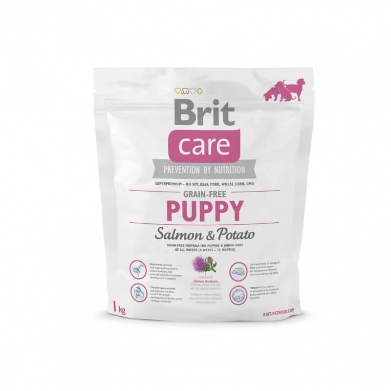 Brit Care Grain-free Puppy Salmon & Potato sausas maistas