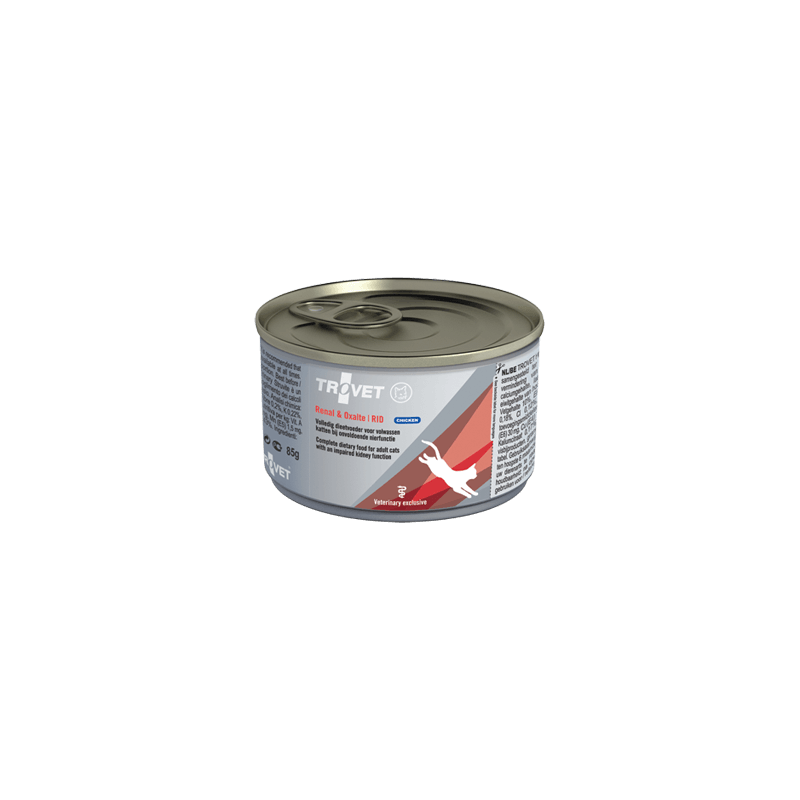 Trovet Renal & Oxalate Rid konservai su vištiena inkstų nepakankamumu sergančioms katėms