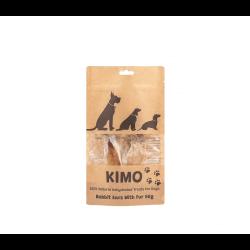 Kimo skanėstas džiovintos triušių ausys su kailiuku šunims