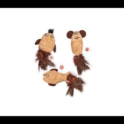 Ethical Products kamštinis žaislas su plunksnomis ir katžole katėms