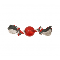 Ethical Products žaislas guminis kamuoliukas su virve Play Strong šunims
