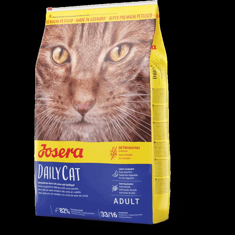 Josera DailyCat begrūdis sausas maistas katėms