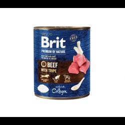 Brit Premium by Nature mėsos paštetas su jautiena ir žarnokais šunims