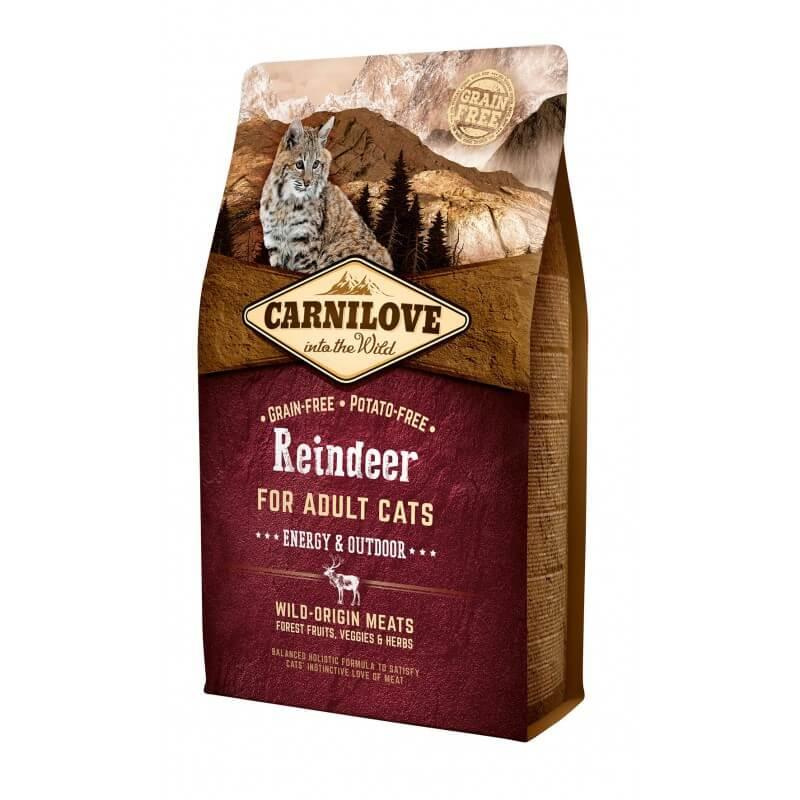 Carni Love Reindeer Adult Cat Energy & Outdoor sausas maistas