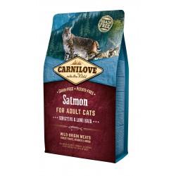 Carni Love Salmon Adult Cat Sensitive & Long Hair sausas