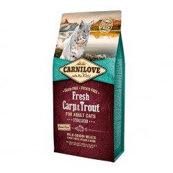 Carni Love Fresh Carp & Trout Adult Cat Sterilised sausas maistas katėms