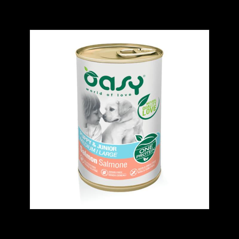 Oasy Puppy Salmon vieno baltymo konservai su lašiša šuniukams