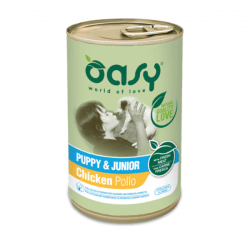 Oasy Puppy & Junior Chicken konservai su vištiena šuniukams