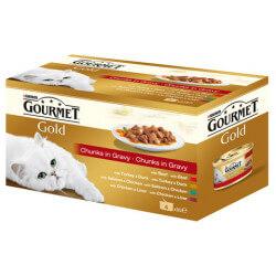 Gourmet Gold mėsos gabaliukai savo sultyse katėms