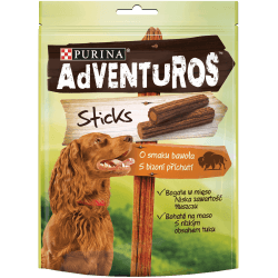 Adventuros Sticks skanėstai su buivolų mėsa šunims
