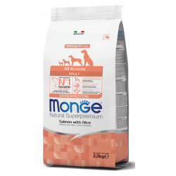 Monge All Breeds Adult Salmon sausas maistas šunims