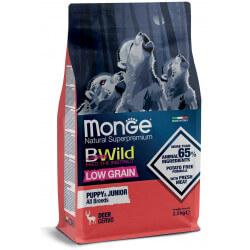Monge BWild All Breeds Puppy & Junior Deer sausas maistas šuniukams