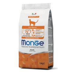 Monge Sterilised Monoprotein Duck sausas maistas katėms