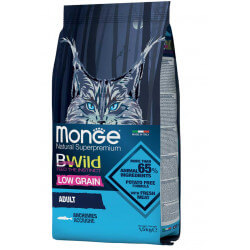 Monge BWild Adult Cat Anchovies sausas maistas katėms