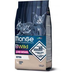 Monge BWild Kitten Goose sausas maistas kačiukams