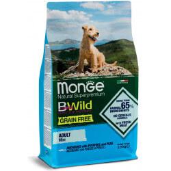 Monge Grain Free Mini Adult Anchovies begrūdis sausas maistas mažų veislių šunims