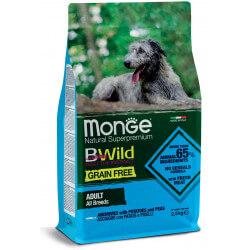 Monge Grain Free All Breeds Adult Anchovies begrūdis sausas maistas šunims