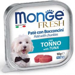 Monge Fresh paštetas su tuno gabaliukais šunims