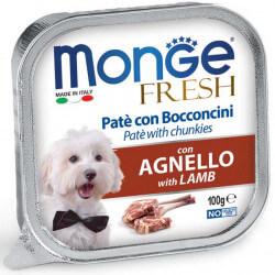 Monge Fresh paštetas su ėrienos gabaliukais šunims