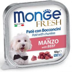 Monge Fresh paštetas su jautienos gabaliukais šunims
