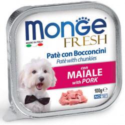 Monge Fresh paštetas su kiaulienos gabaliukais šunims