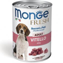 Monge Fresh paštetas su veršienos gabaliukais šunims