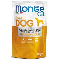 Monge Grill Dog Pouches konservai su vištiena ir kalakutiena šunims