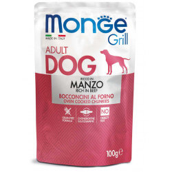 Monge Grill Dog Pouches konservai su jautiena šunims