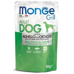 Monge Grill Dog Pouches konservai su ėriena ir daržovėmis šunims
