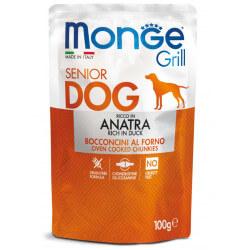 Monge Grill Dog Pouches konservai su antiena vyresnio amžiaus šunims
