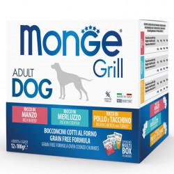 Monge Grill Multipack konservų rinkinys su jautiena, menke ir paukštiena šunims