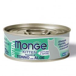 Monge Jelly Kitten konservai su tunu ir alaviju kačiukams
