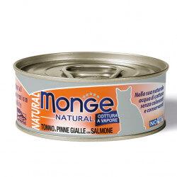 Monge Natural konservai su tunu ir lašiša katėms
