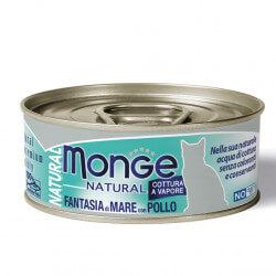 Monge Natural konservai su jūros gėrybėmis ir vištiena katėms
