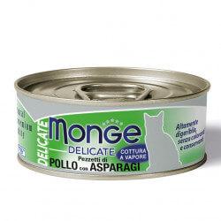 Monge Delicate konservai su vištiena ir šparagais katėms