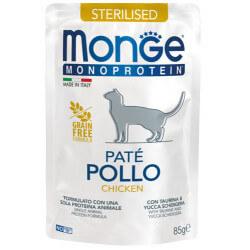 Monge Monoprotein Sterilised paštetas su vištiena sterilizuotoms katėms