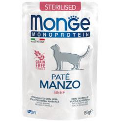 Monge Monoprotein Sterilised paštetas su jautiena sterilizuotoms katėms