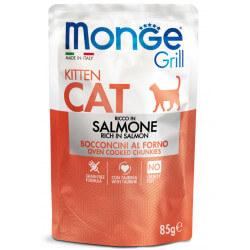 Monge Grill Cat Pouches konservai su lašiša kačiukams