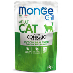Monge Grill Cat Pouches konservai su triušiena katėms