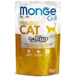 Monge Grill Cat Pouches konservai su gaidiena sterilizuotoms katėms