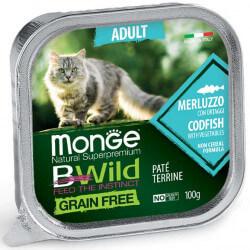 Monge BWild Adult paštetas su menke ir daržovėmis katėms