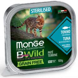 Monge BWild Sterilised paštetas su tunu ir daržovėmis sterilizuotoms katėms
