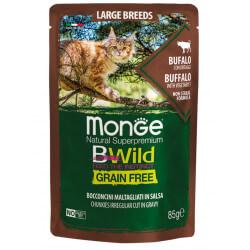 Monge BWild All Large Breeds konservai su buivoliena ir daržovėmis katėms