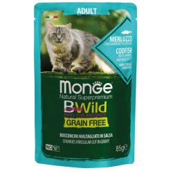 Monge BWild Adult konservai su menke, krevetėmis ir daržovėmis katėms