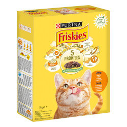 Friskies sausas maistas su vištiena ir daržovėmis katėms